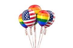 Matrimônios homossexuais legais nos EUA Imagens de Stock Royalty Free