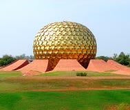 Matrimandir, Auroville, India stock afbeelding