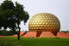 Matrimandir bei Auroville, Pondicherry Stockfoto