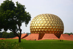 Matrimandir en Auroville, Pondicherry Foto de archivo
