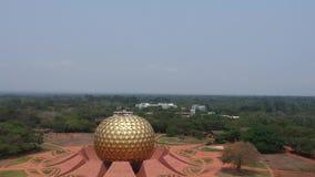 Matrimandir Golden Globe Auroville Indien arkivfilmer