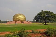 Matrimandir - Golden Temple in Auroville, Tamil Nadu, India Stock Image