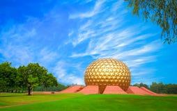 Matrimandir spirituale a Auroville, Pondicherry Fotografie Stock