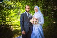 Matrimonio algerino e canadese Fotografia Stock Libera da Diritti