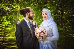 Matrimonio algerino e canadese Immagine Stock Libera da Diritti