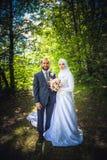 Matrimonio algerino e canadese Immagine Stock