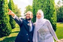 Matrimonio algerino e canadese Fotografia Stock