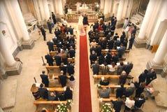 Matrimonio con un rito cattolico in Italia Fotografia Stock