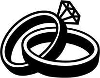 Matrimonio delle fedi nuziali illustrazione di stock