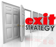 Matrimonio di accordo di piano di fuga di permesso della porta aperta di strategia di uscita illustrazione di stock