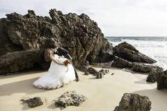 Matrimonio di amore di bacio Immagini Stock Libere da Diritti