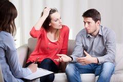 Matrimonio durante la psicoterapia Immagini Stock Libere da Diritti