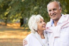 Matrimonio felice dell'anziano fotografia stock