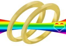 Matrimonio gay Fotografia Stock Libera da Diritti