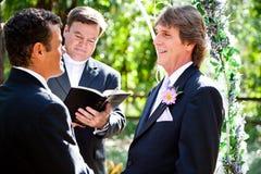 Matrimonio homosexual - expresión del amor Imágenes de archivo libres de regalías