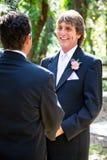 Matrimonio homosexual - novio hermoso Fotos de archivo libres de regalías