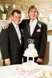 Matrimonio homosexual - recepción nupcial Imágenes de archivo libres de regalías