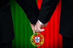 Matrimonio omosessuale nel Portogallo Fotografia Stock Libera da Diritti