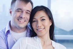 Matrimony. Portrait of happy couple smiling at camera Stock Photos
