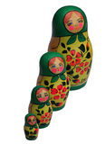 MATRIOSCHKAs. MATRIOSCHKA one calls a round multicolored painted wood doll in Russia, into one another-plug-in stock image