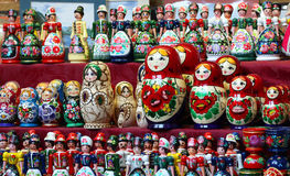 Matrioshka俄国木玩偶 库存图片