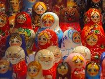 Matrioshka在莫斯科 免版税库存图片