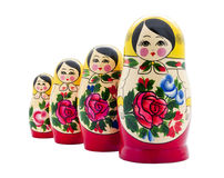 Matrioshka. Doll isolated on white Stock Photography