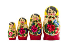 Matrioshka. Doll isolated on white Royalty Free Stock Images