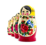 Matrioshka. Doll isolated on white stock image
