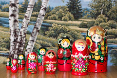 Matrioshka royaltyfria bilder