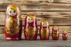 Matrioshka or  babushkas dolls Royalty Free Stock Photo