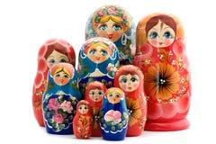 Matrioshka de madera de la muñeca Fotografía de archivo libre de regalías