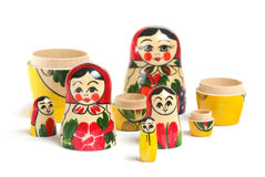 Matrioshka doll isolated Royalty Free Stock Photography
