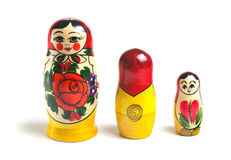 Matrioshka doll over white Royalty Free Stock Photo