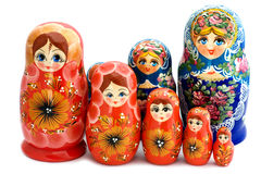 Matrioshka macro Royalty Free Stock Images