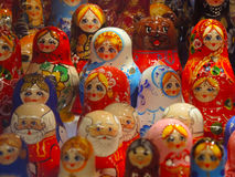 Matrioshka in Moscow. Matrioshka, nesting dolls souvenirs on March 13, 2014 in Moscow, Russia Royalty Free Stock Images