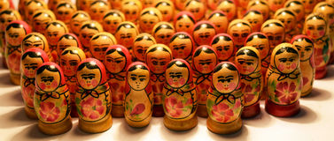 Matrioshka. Russian wooden toy in the form of a painted doll Royalty Free Stock Images