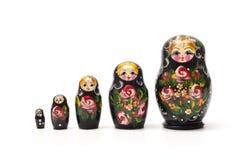 Matrioshka tradicional ruso de la muñeca Imagen de archivo libre de regalías