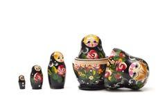 Matrioshka tradicional ruso de la muñeca. Foto de archivo