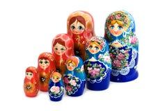 Matrioshka on white close up Stock Images