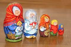 Matrioshkas Familie Lizenzfreie Stockfotografie