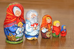 Matrioshkas family. Russian dolls-matrioshkas as family Royalty Free Stock Photography