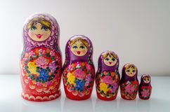 Matrioska. Traditional Russian Matrioska, vintage toy doll from Russian Culture Royalty Free Stock Photography