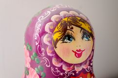Matrioska. Traditional Russian Matrioska, vintage toy doll from Russian Culture stock image