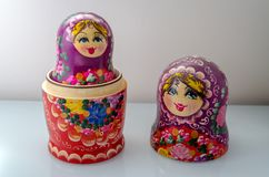 Matrioska. Traditional Russian Matrioska, vintage toy doll from Russian Culture stock photography