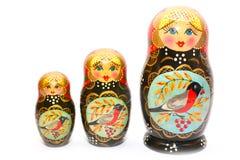 Matrioska. Dolls isolated on white Stock Images