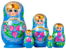 Matrioska family. Matrioska Russian Doll, side by side Royalty Free Stock Images