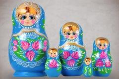 Matrioska family. Matrioska Russian Doll, side by side Royalty Free Stock Image