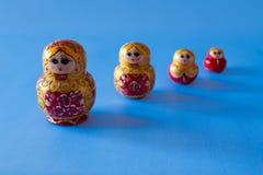 Matrioska in a row. Four matrioska in a row Stock Photos