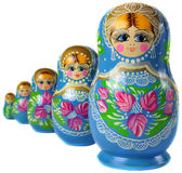 Matrioska Russian Doll. Side by side Stock Images